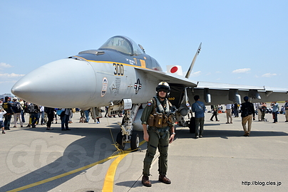 F/A-18E とパイロット - NAF Atsugi Spring Festival 2016 (地上展示編)